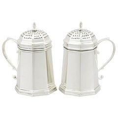 Antique Pair of American Sterling Silver Kitchen Peppers by Tiffany & Co.