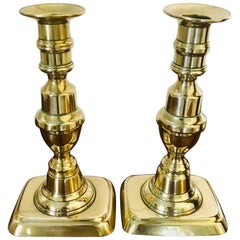 Antique Pair of Brass Candlesticks