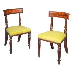 Antique Pair of Chairs, Regency 19th Century, Manner of George Bullock