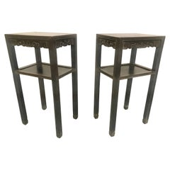 Antique Pair of Chinese Elm Tables