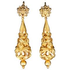 Antique Pair of Drop Earrings