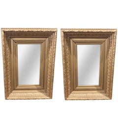 Antique Pair of English Giltwood Mirrors