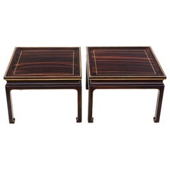 Antique Pair of Faux Rosewood Coffee Side Occasional or Lamp Tables