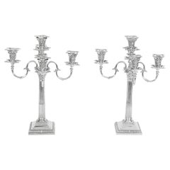 Antique Pair of Five-Light Candelabra by Mappin & Webb, 19th Century