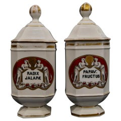 Antique Pair of French Apothecary Jars
