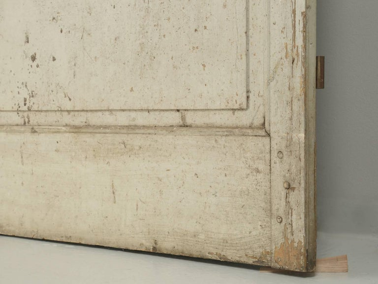 Antique Pair of French Doors in Original Paint, Unrestored For Sale 5
