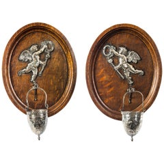 Antique Pair of French Holy Water Stoops, 19th Century