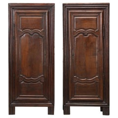 Antique Pair of French Oak Bonnetiere's, Amroires or Cupboards from the 1700s