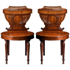 Antique Pair of Georgian Regency Hall Chairs, circa 1800