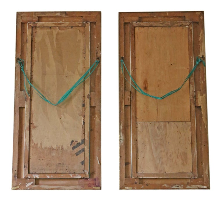 Antique Pair Of Gilt Overmantle Wall Mirrors For Sale At