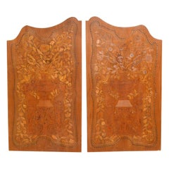 Antique Pair of Inlaid Panels