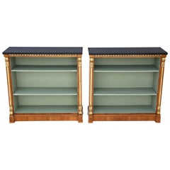 Antique Pair of Large Victorian Walnut Adjustable Bookcase