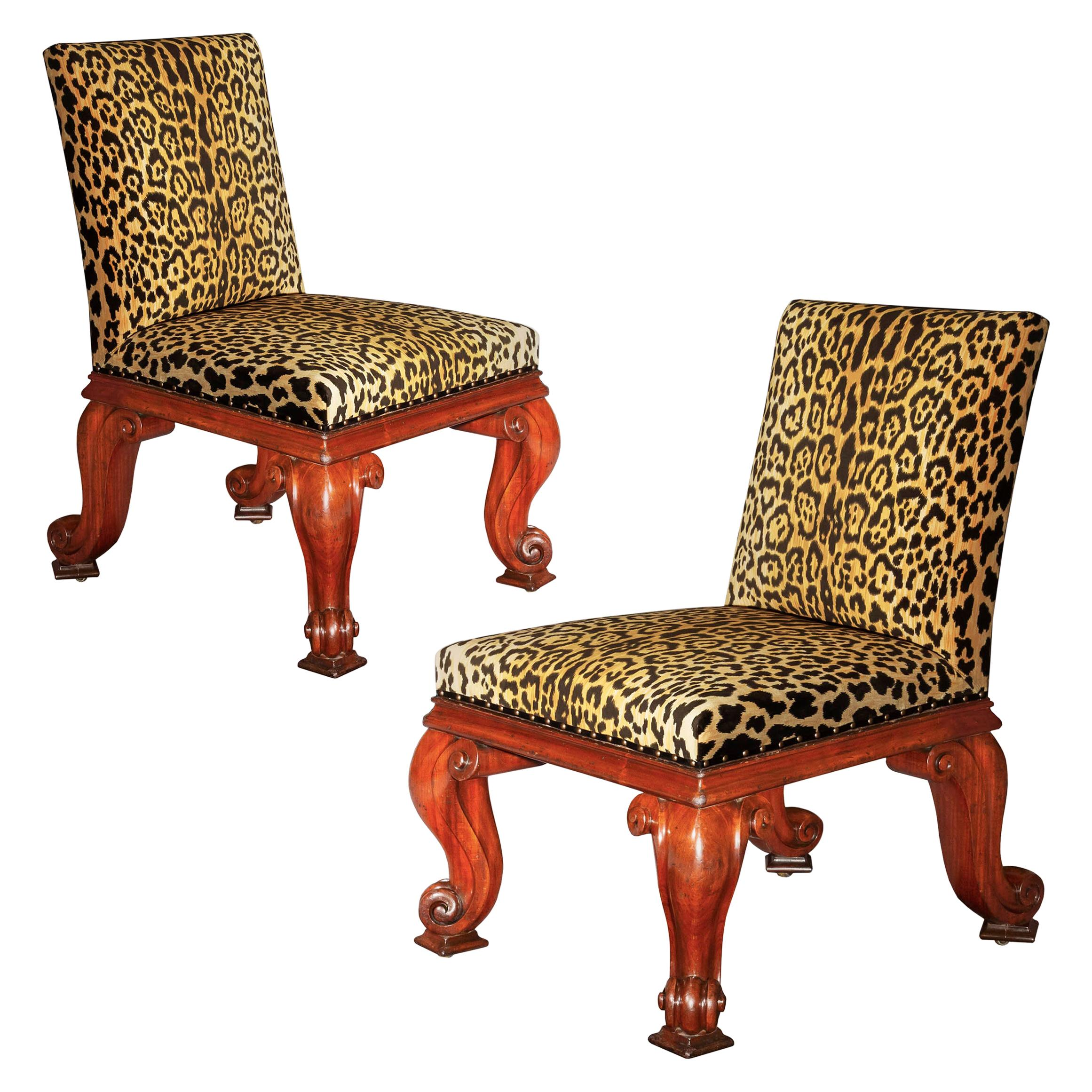 Antique Pair of Regency Chairs by Gillows