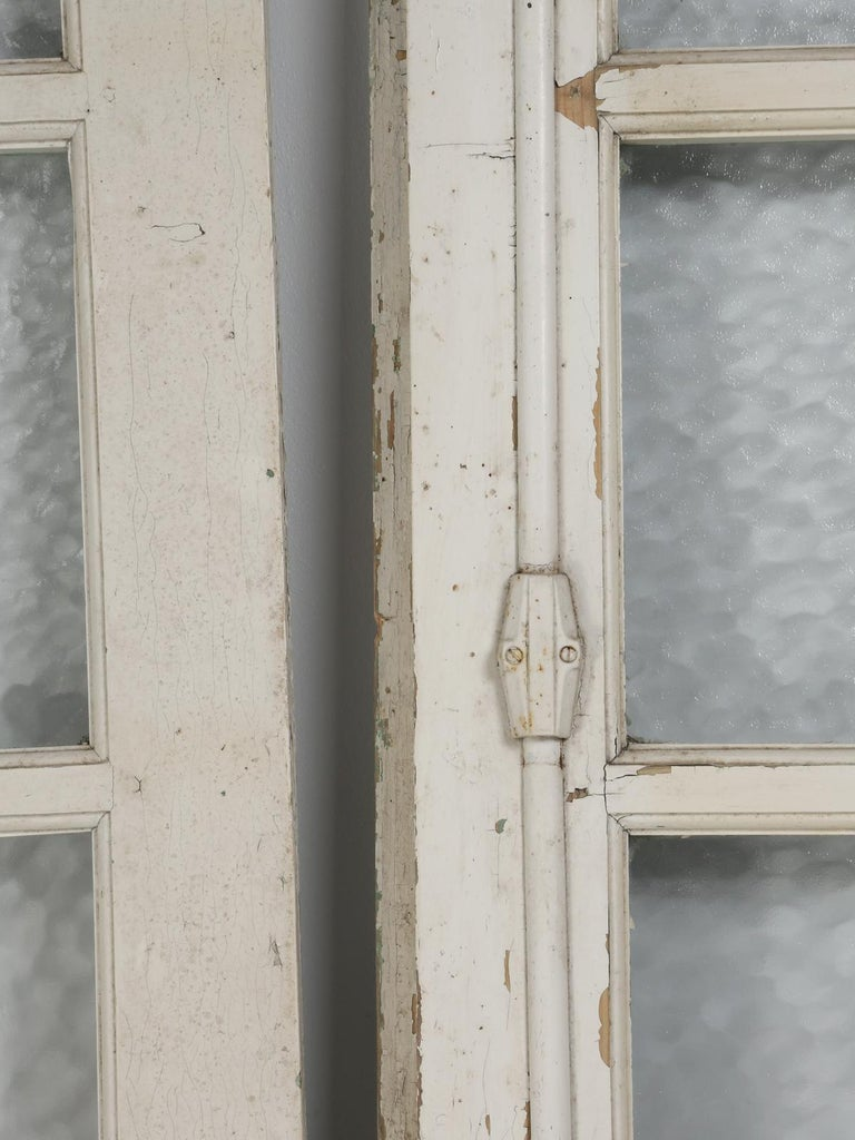 Early 20th Century Antique Pair of Old Paint French Doors For Sale