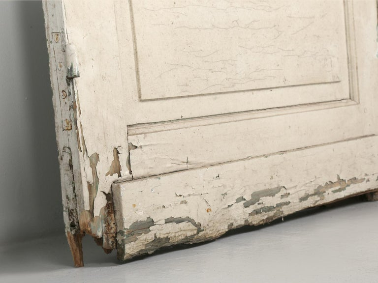 Antique Pair of Old Paint French Doors For Sale 4