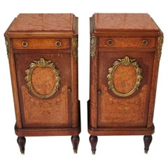 Antique Pair of quality 19th century French Bedside Cabinets/ nightstands