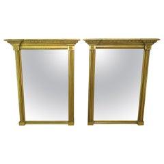 Antique Pair of Regency Gilt Pier Mirrors