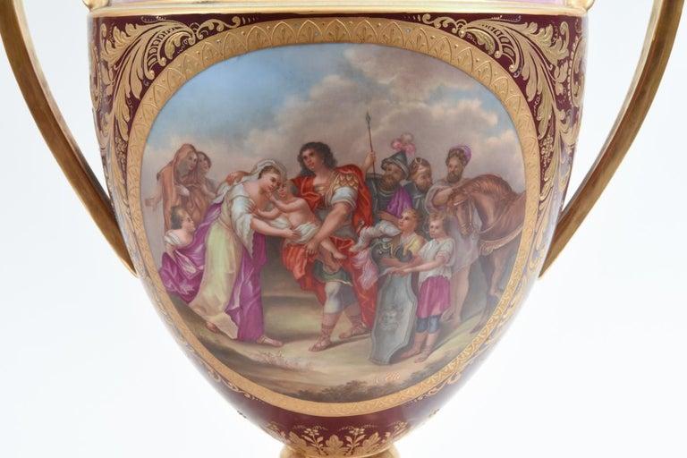 Antique Pair of Royal Vienna Porcelain Decorative Pieces / Urns For Sale 8