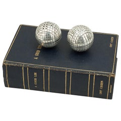 Antique Pair of Salt and Pepper Golf Balls in Leather Book, A Good Lie