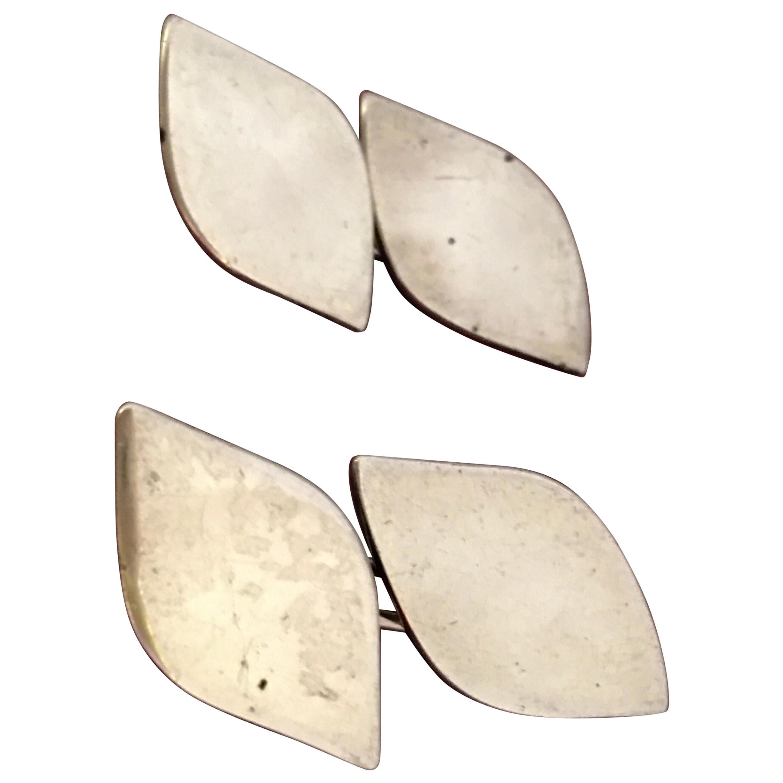 Antique Pair of Silver Cufflinks