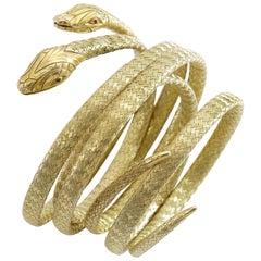 Antique Pair of Snake Bracelets