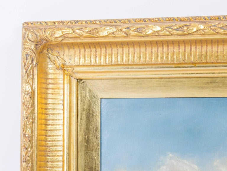 Antique Pair Oil Paintings Grand Canal Venice Alfred Pollentine, 19th Century For Sale 10