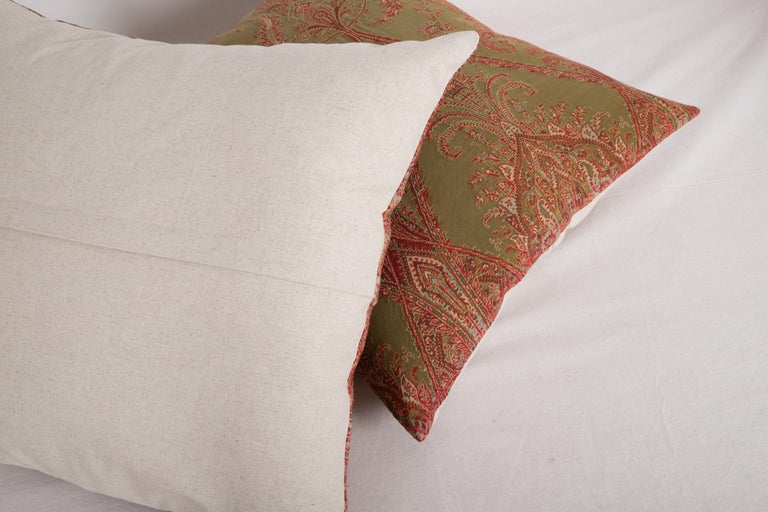 Antique Paisley Wool Pillow Cases, 19th Century For Sale 2