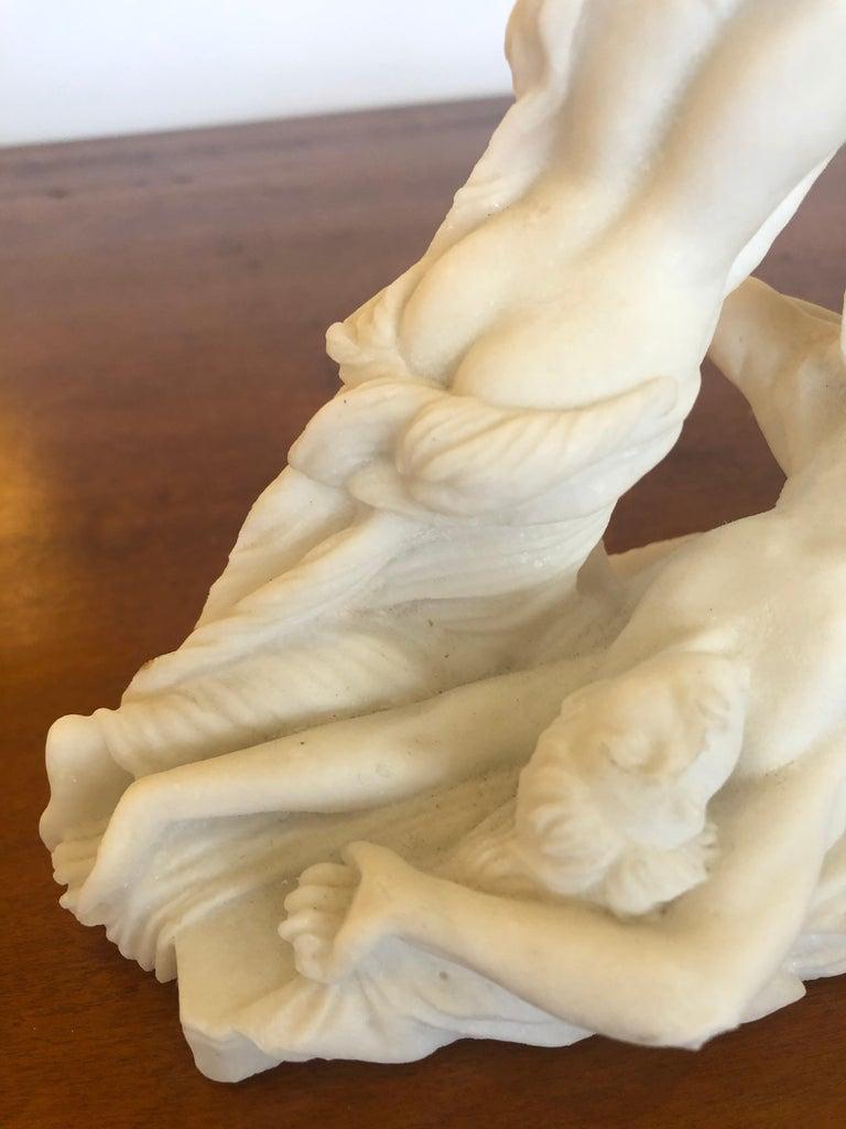 Antique Parian Porcelain Sculpture of Intertwined Mythological Figures For Sale 1