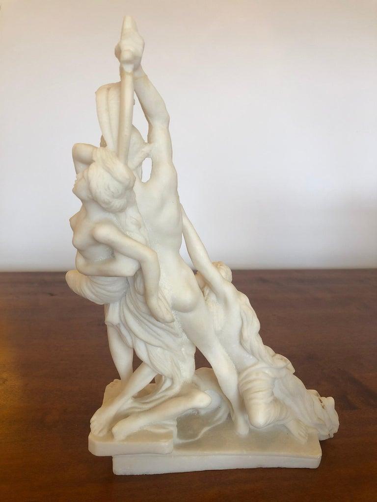 Antique Parian Porcelain Sculpture of Intertwined Mythological Figures For Sale 3