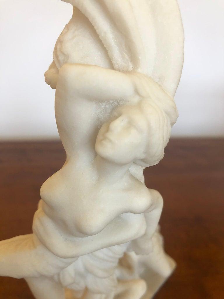 Antique Parian Porcelain Sculpture of Intertwined Mythological Figures For Sale 4