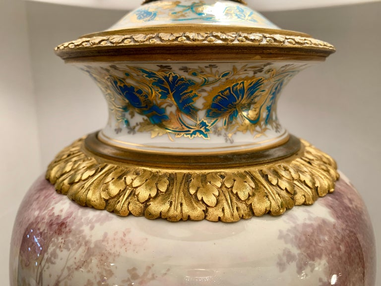 Antique Paris Sevres Louis XVI Style Gilt Bronze Charles Labarre Lamps For Sale 9