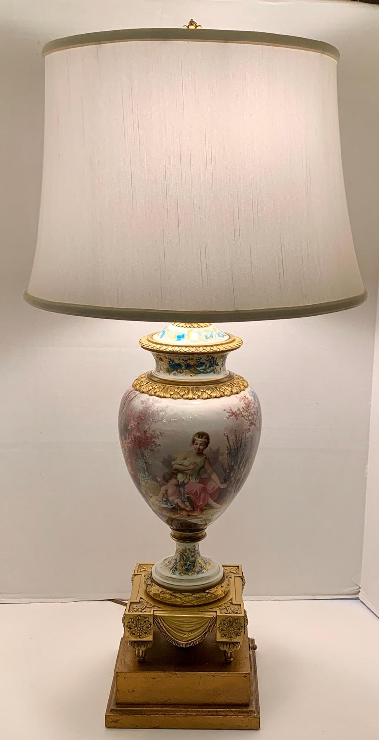 Antique Paris Sevres Louis XVI Style Gilt Bronze Charles Labarre Lamps For Sale 10