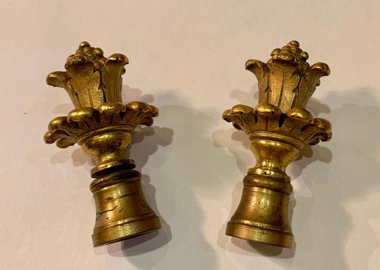 Antique Paris Sevres Louis XVI Style Gilt Bronze Charles Labarre Lamps 12
