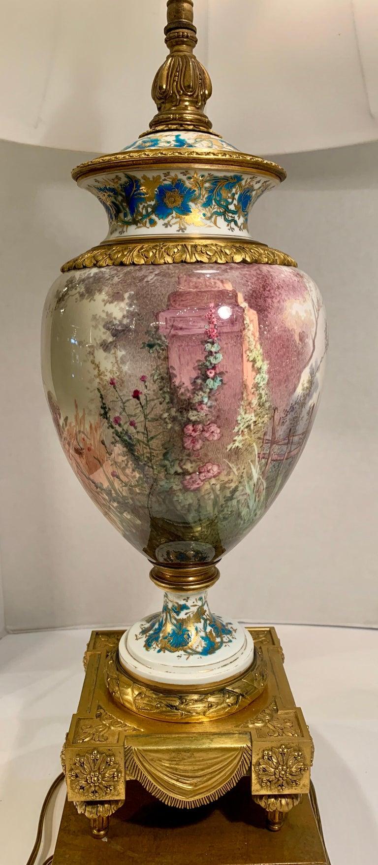 Antique Paris Sevres Louis XVI Style Gilt Bronze Charles Labarre Lamps 3