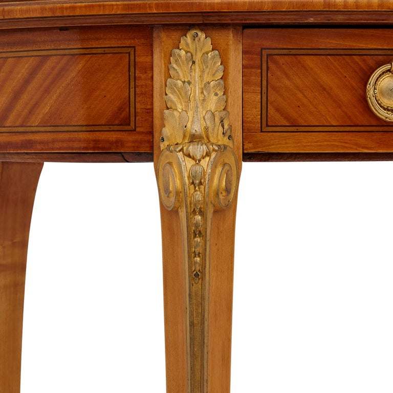 French Antique Parisian Neoclassical Style Side Table by Au Gros Chêne For Sale