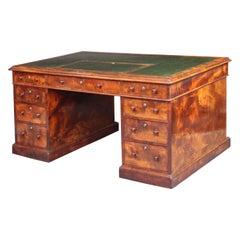 Antique Partners Desk with Provenance