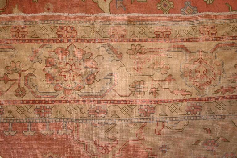 20th Century Antique Pastel Coloured Turkish Oushak Rug For Sale