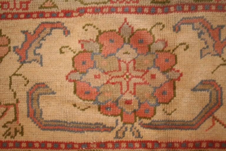 Wool Antique Pastel Coloured Turkish Oushak Rug For Sale