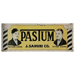 """Antique """"Pastum"""" before and after Two-Sided Sign"""