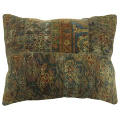 Antique Patchwork Rustic Lavender Lumbar Rug Pillow