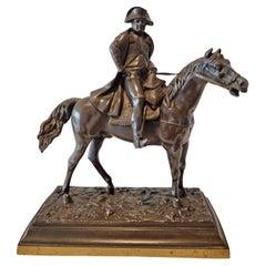 Antique Patinated bronze of Napoleon on Horseback
