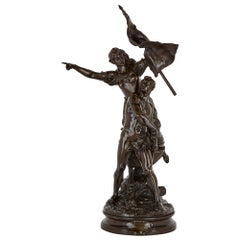Antique Patinated Bronze Sculpture by Gaudez