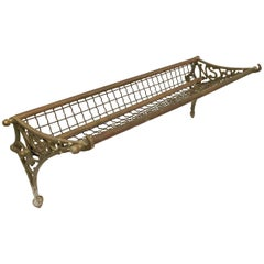 Antique Patinated Copper and Brass Bus/Train Luggage Rack