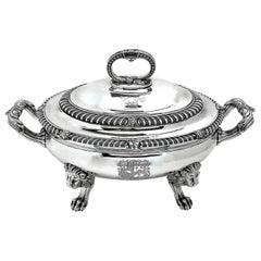 Antique Paul Storr George III Sterling Silver Soup Tureen 1812 Georgian Serving