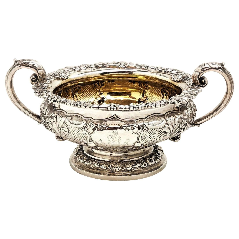 Antique Paul Storr George III Sterling Silver Sugar Bowl 1801