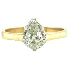 Antique Pear Shaped Diamond Engagement Ring