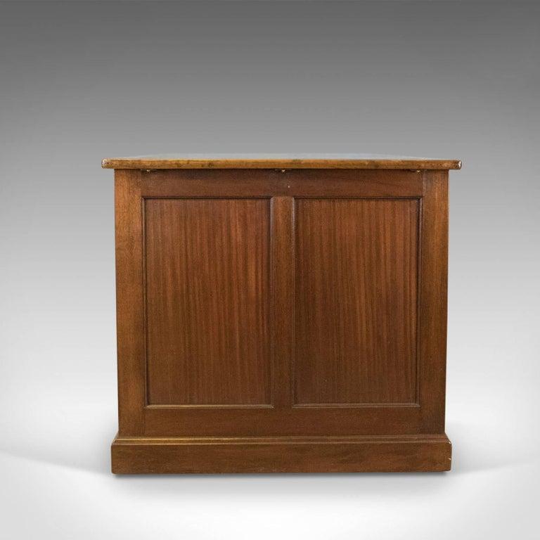 British Colonial Antique Pedestal Desk, Large, English, Mahogany, George V,  circa - Antique Pedestal Desk, Large, English, Mahogany, George V, Circa