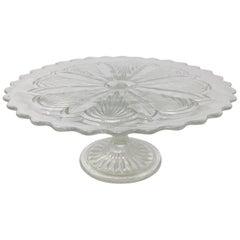 Antique Pedestal Glass Cake Patisserie Stand