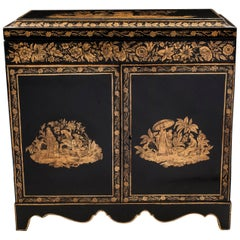 Chinoiserie Penwork Grand Tour Treasure Cabinet Early 19th Century