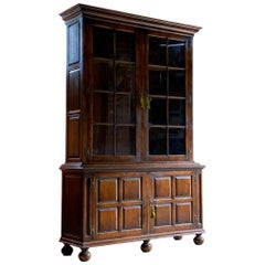 Antique Pepys Style Library Bookcase Oak Titchmarsh & Goodwin Style, circa 1960
